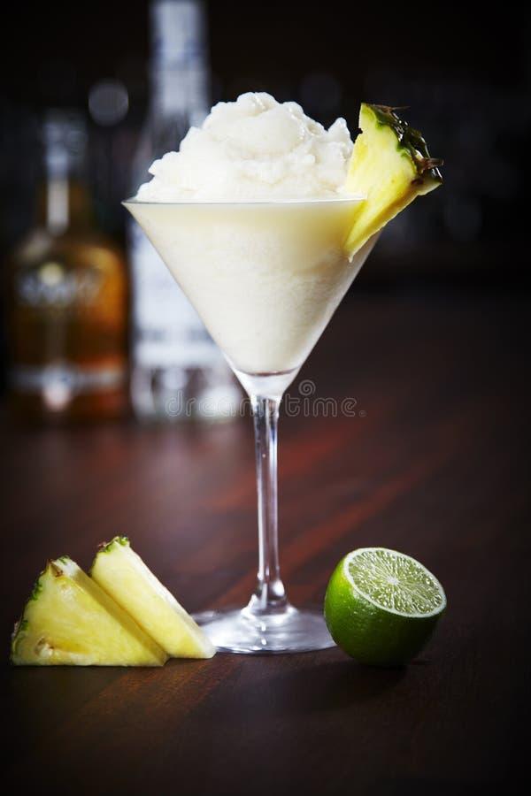 Daiquiri do abacaxi foto de stock
