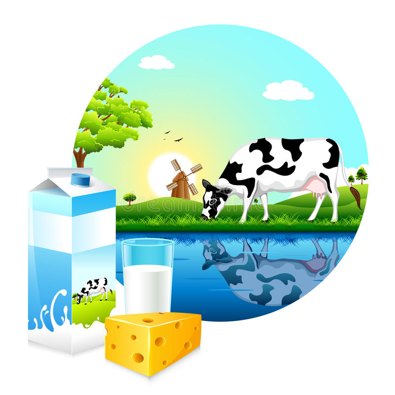 Download Dairy Farm stock vector. Image of meadow, green, chesse - 25292846
