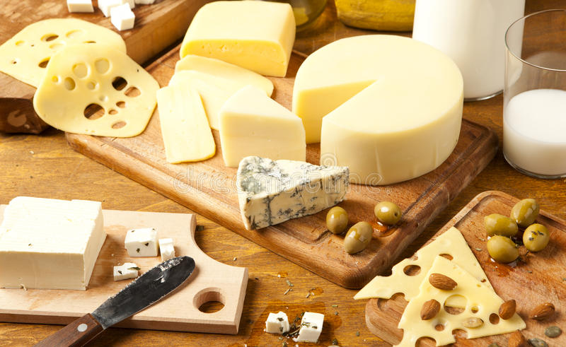 Dairy products stock images