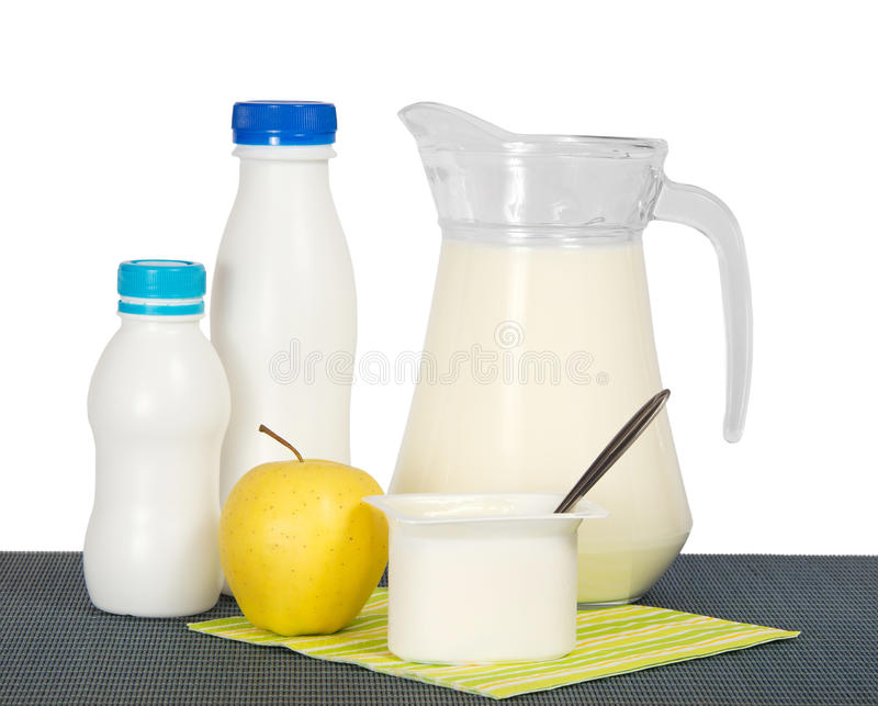 Download Dairy products and apple stock image. Image of apple - 35402203