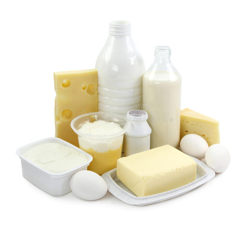 Dairy products and eggs royalty free stock photography