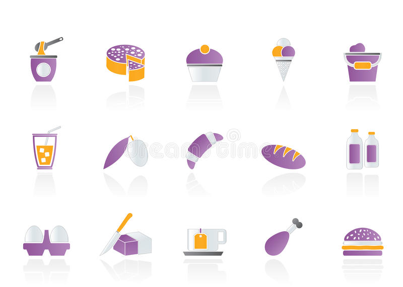 Download Dairy Products - Food And Drink Icons Stock Vector - Illustration: 22129380