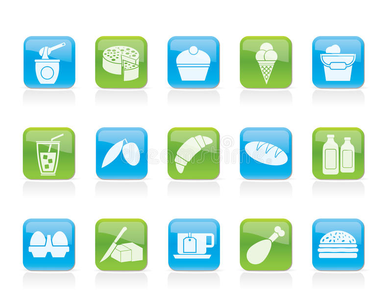 Download Dairy Products - Food And Drink Icons Stock Vector - Illustration of juice, hamburger: 22230612