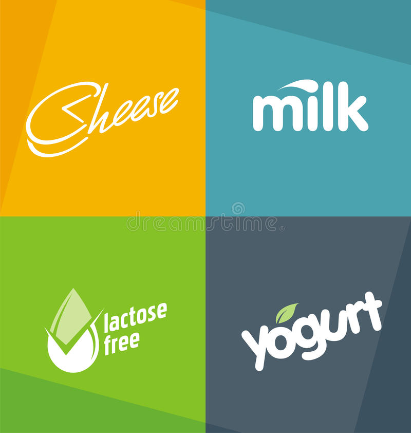 Dairy products logo designs templates vector illustration