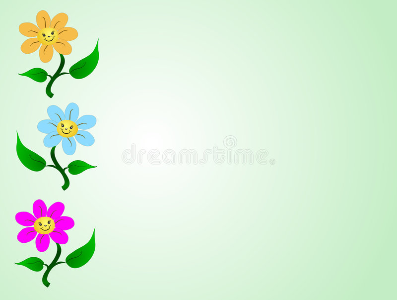 Daiseys feliz ilustração royalty free