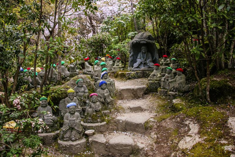 Daisho在寺庙是一个最有名望的真言宗寺庙在宫岛海岛,日本 图库摄影