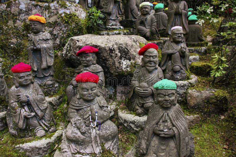Daisho-in Temple is one of the most prestigious Shingon Temple in Miyajima Island, Japan.  royalty free stock image
