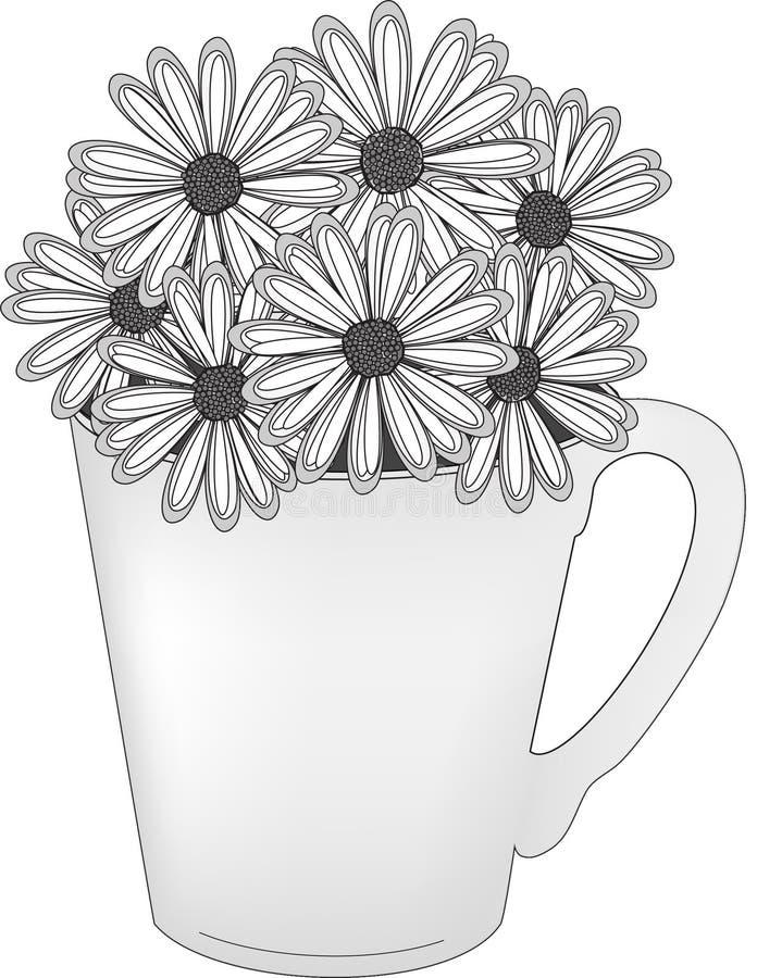 Free Daisies In A Mug Stock Photos - 17031583