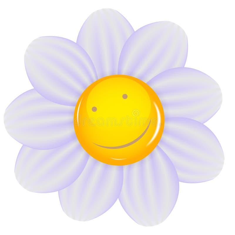 Daisy ένα χαρωπό χαμόγελο που απομονώνεται με. Διάνυσμα διανυσματική απεικόνιση