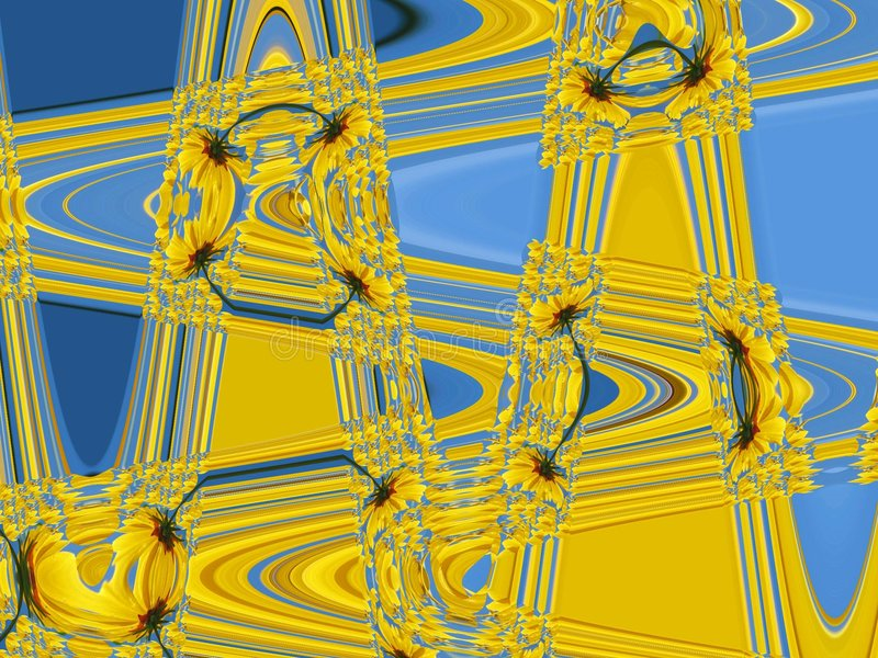 Download Daisy stock illustration. Illustration of yellow, abstract - 130450