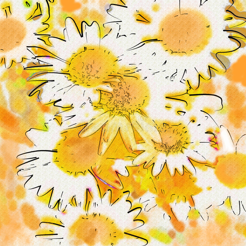 Daisy Background vector illustratie