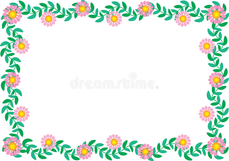 Daisy Border vector illustratie