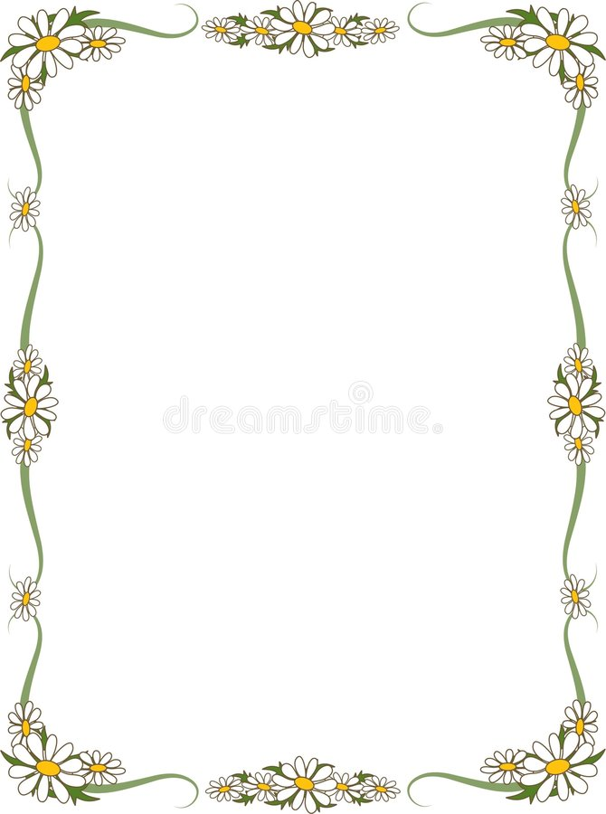 Daisy Border. Border of daisies - perfect for scrapbooking or invitations