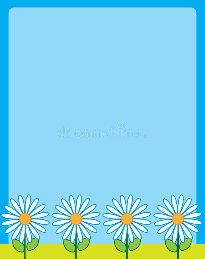 Daisy Border Frame vector illustratie