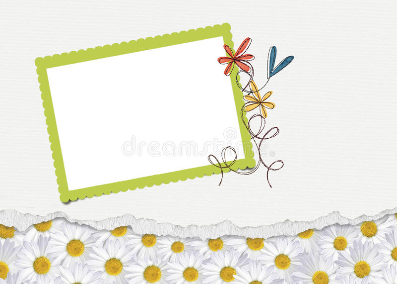 Download Daisy Border with frame stock illustration. Image of scrapbooking - 30146911
