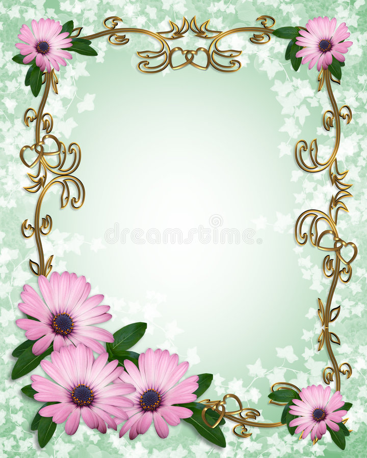 Download Daisy Border template stock illustration. Illustration of decoration - 8587922