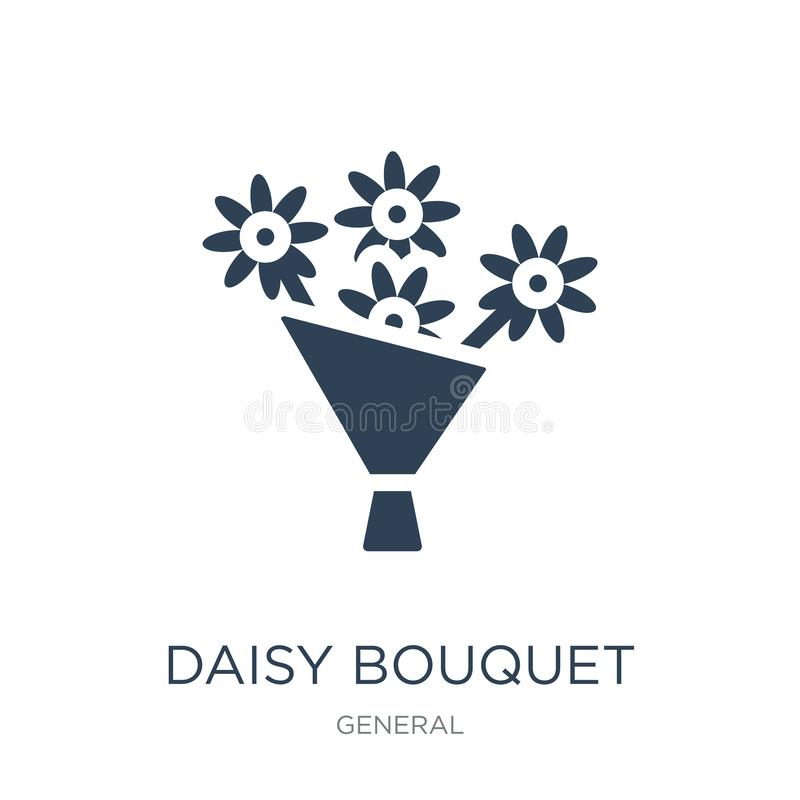 Daisy bouquet icon in trendy design style. daisy bouquet icon isolated on white background. daisy bouquet vector icon simple and. Modern flat symbol for web stock illustration