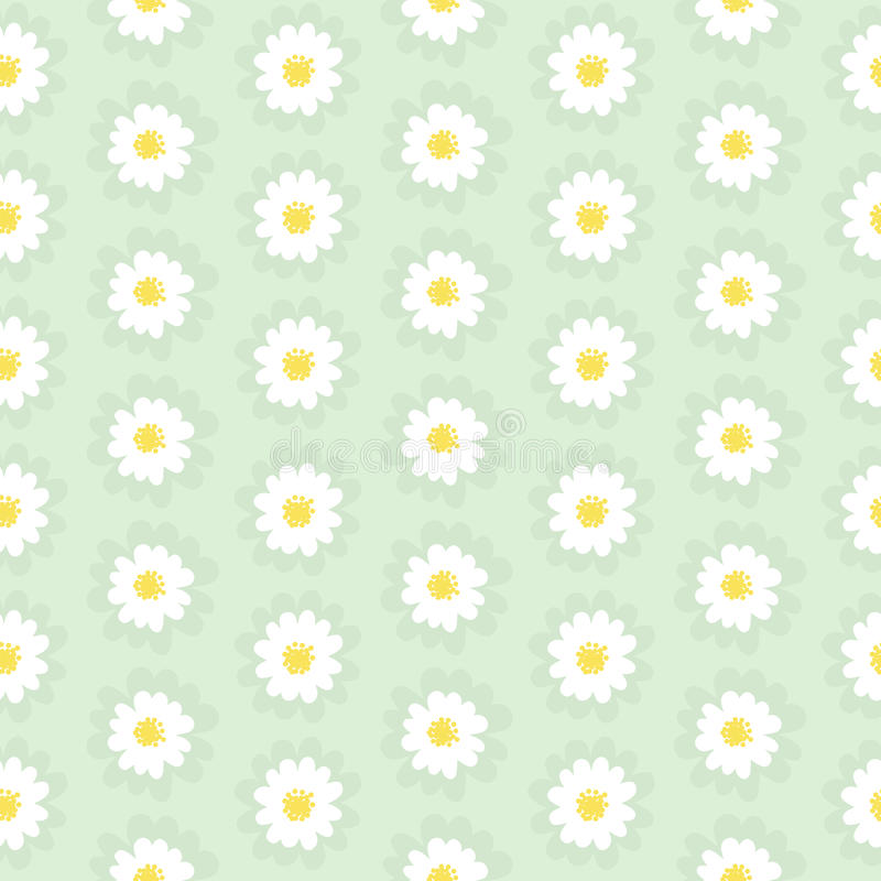 Daisy Chain Seamless Pattern illustration stock