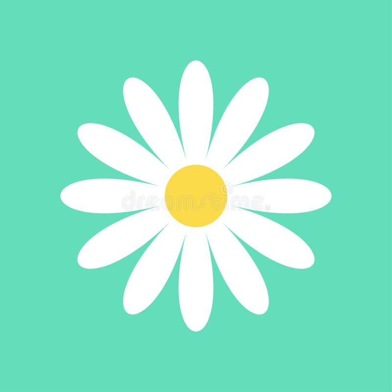 Daisy chamomile vectorpictogram stock illustratie