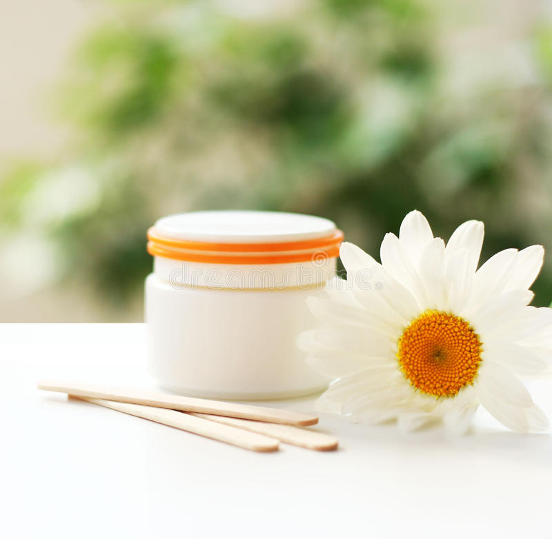 Daisy, Cream Jar, Cosmetics Stock Images