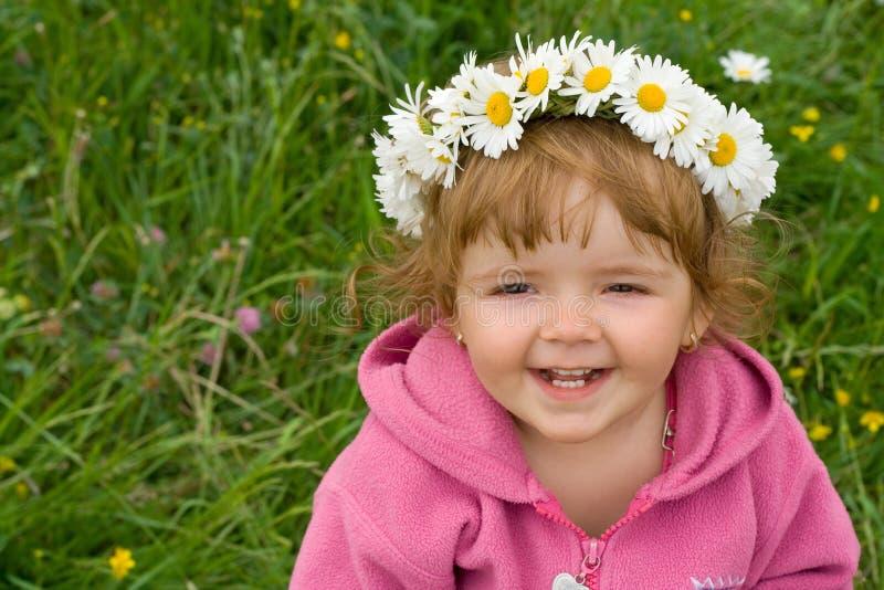 daisy dziewczyny wieniec dziecko zdjęcie stock