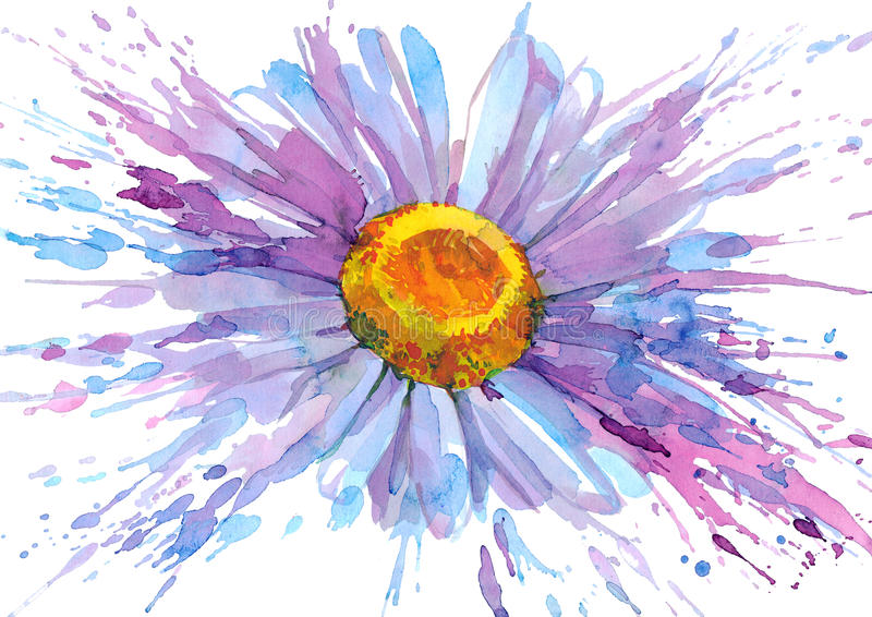 Download Daisy flower stock illustration. Illustration of drop - 21781903