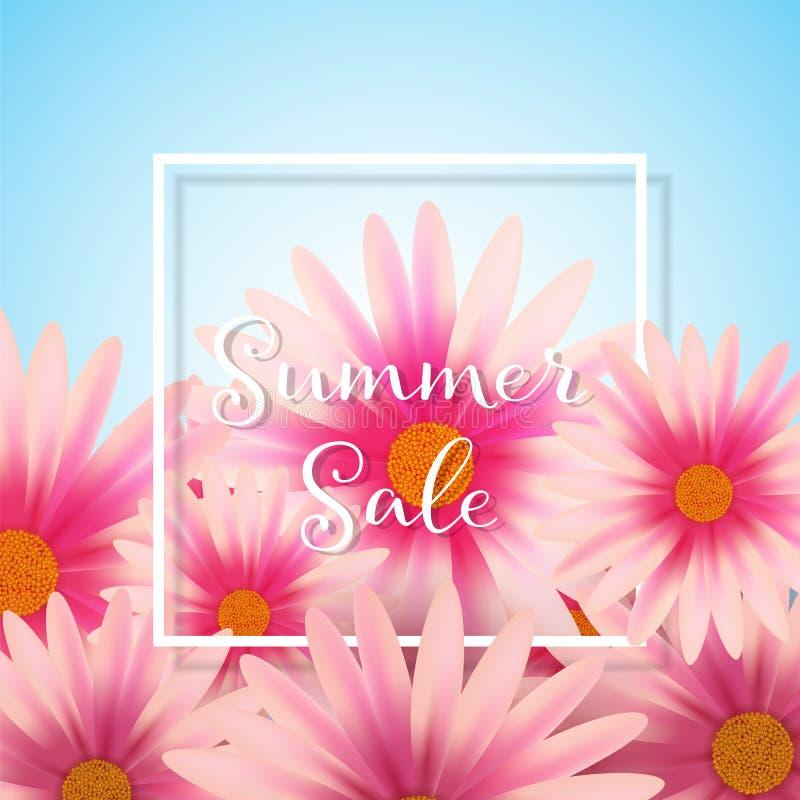 Daisy flower background stock illustration