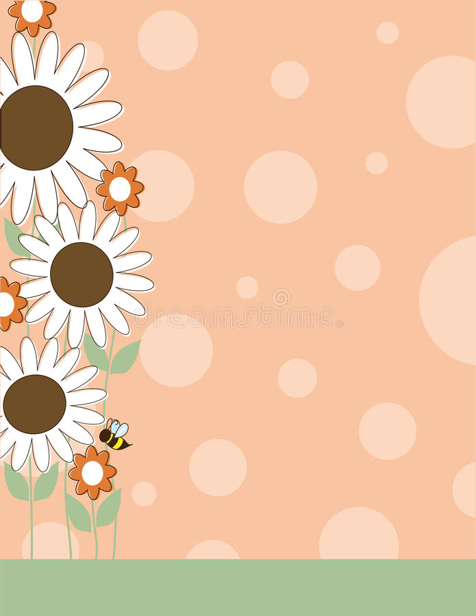 Daisy Flower Border royalty-vrije illustratie