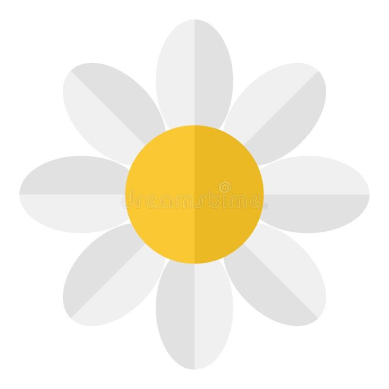 Daisy Flower Flat Icon Isolated blanca libre illustration