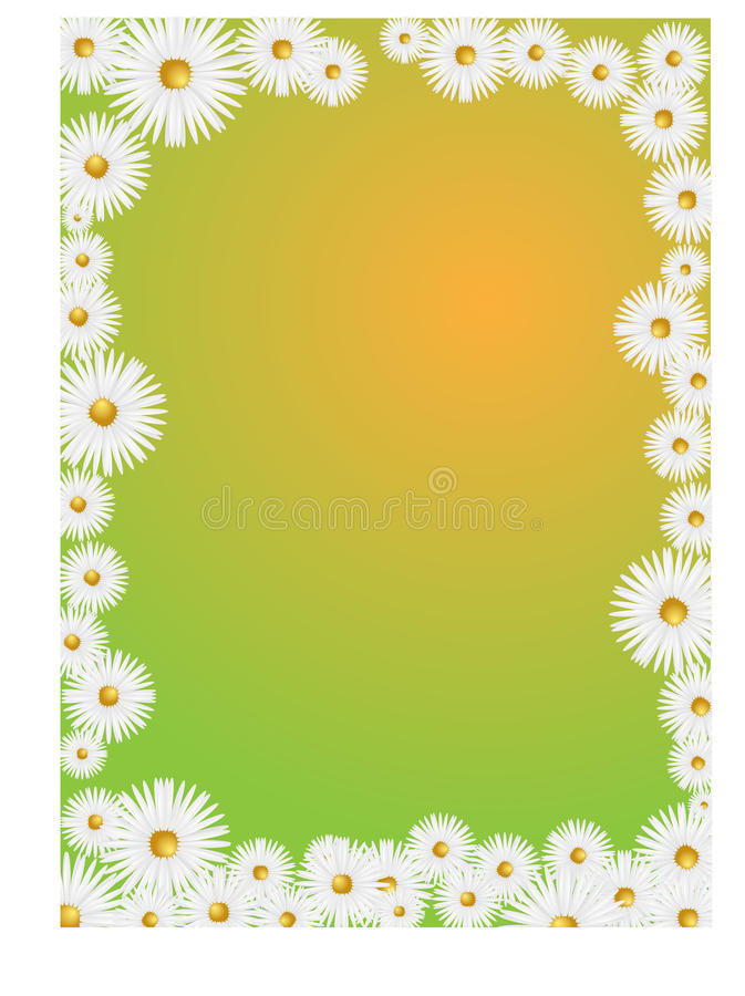 Download Daisy frame stock illustration. Illustration of background - 24457654