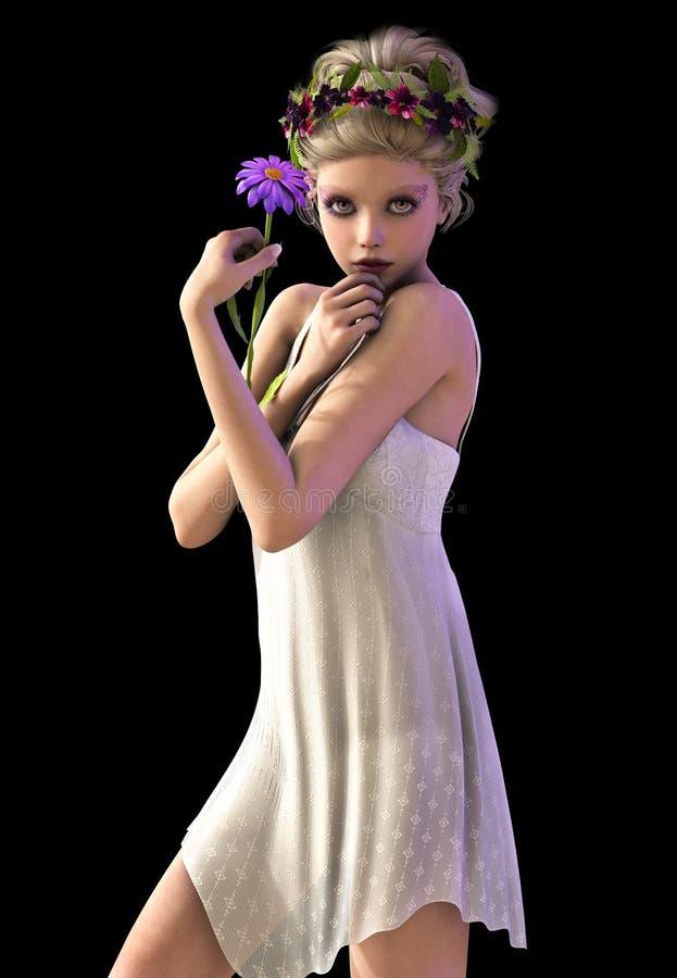 Daisy Girl CA illustration stock