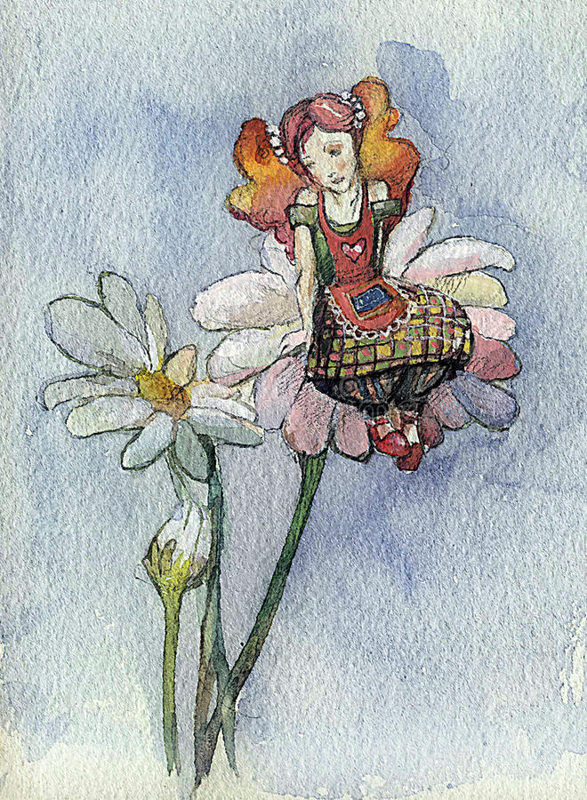 Download Daisy girl (series B) stock illustration. Image of hiding - 13132042