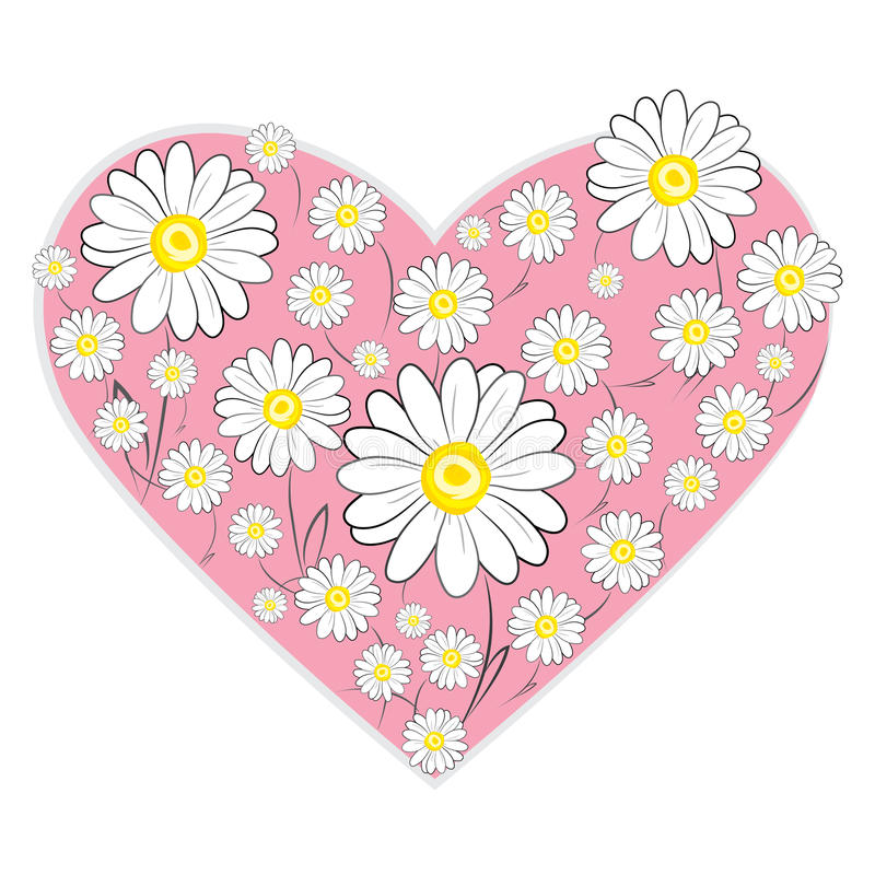 Daisy Heart illustration de vecteur