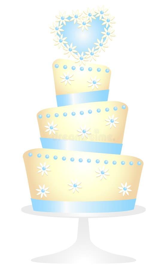 Daisy Heart Cake royalty-vrije illustratie