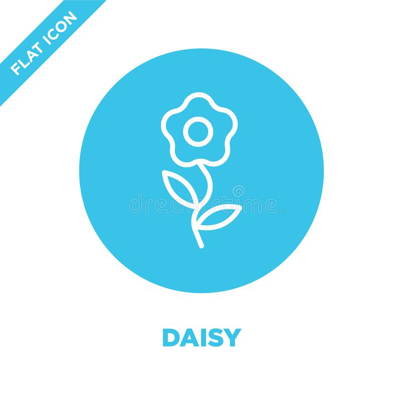 daisy icon vector from seasons collection. Thin line daisy outline icon vector  illustration. Linear symbol for use on web and stock illustration