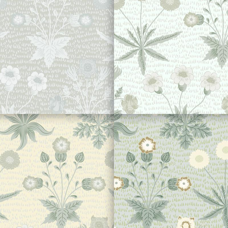 Daisy and Jasmine by William Morris 1834-1896. Original from The MET Museum. Digitally enhanced by rawpixel stock illustration