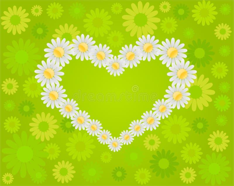 Download Daisy love stock vector. Image of flower, heart, vector - 9504310