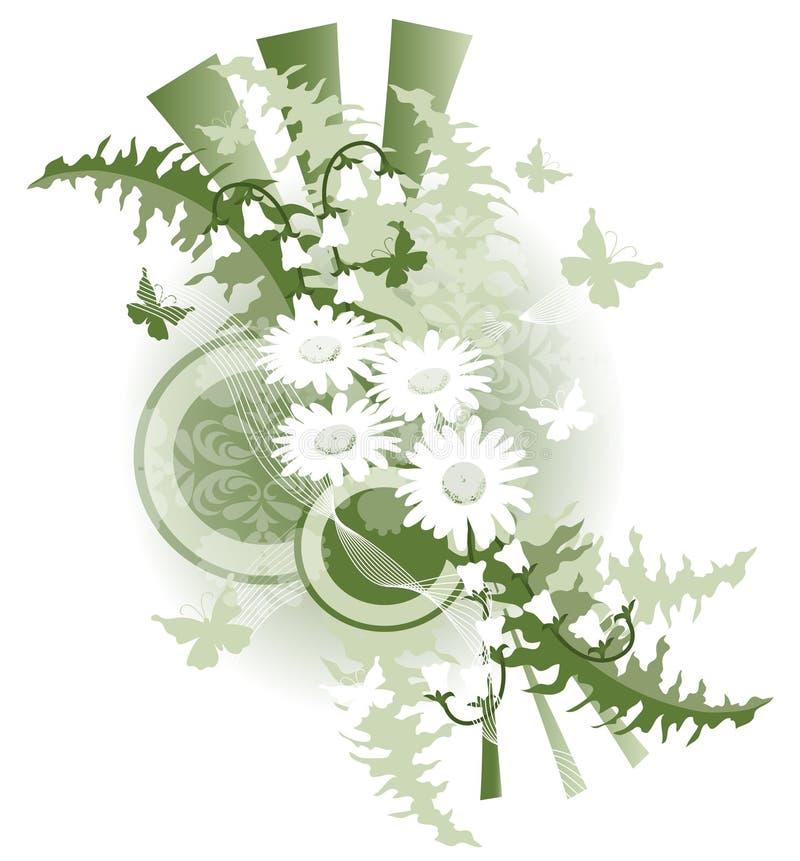 daisy motyla projektu ilustracja wektor