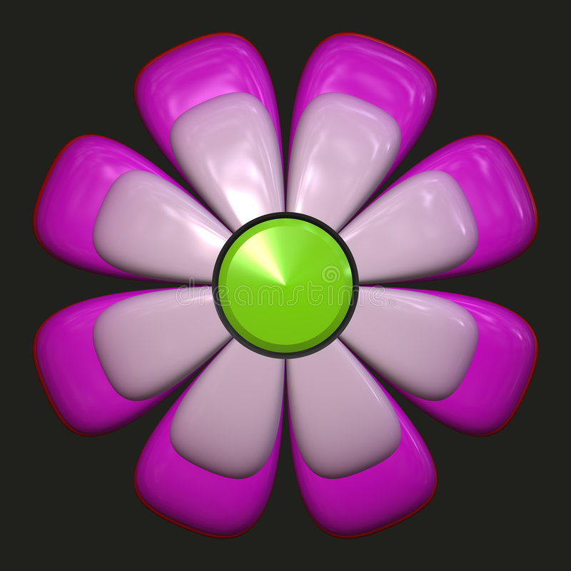 Download Daisy with purple petals stock illustration. Image of flora - 3272830