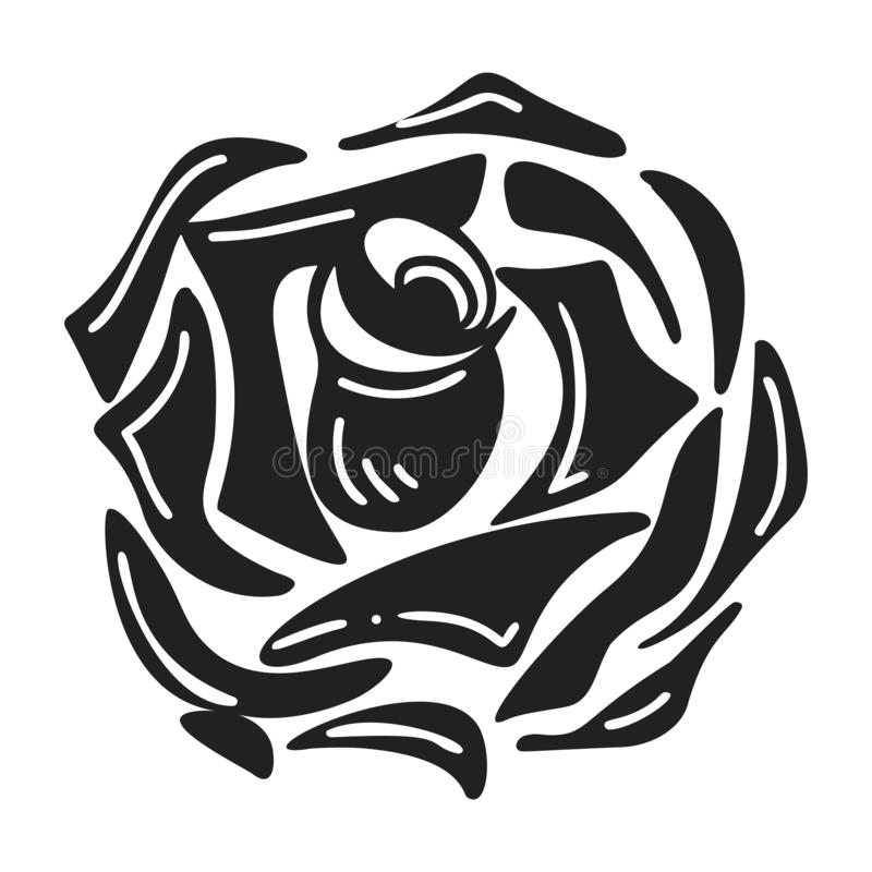 Daisy rose icon, simple style stock illustration