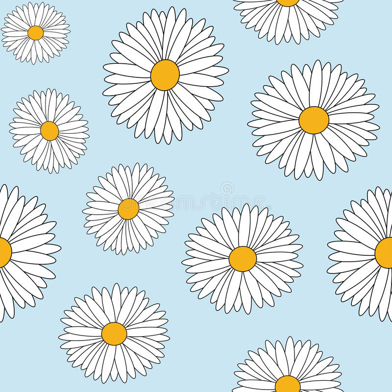 Download Daisy seamless stock vector. Image of pattern, botany - 25586228