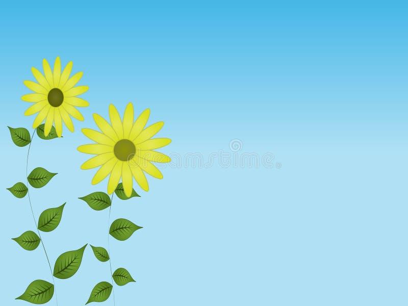 Daisy Sky Background stock illustration