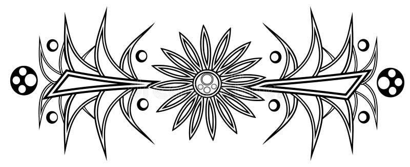 Download Daisy tattoo stock vector. Image of geometric, ornamental - 22321960