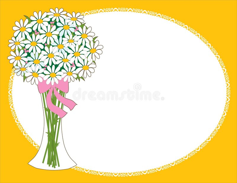 Daisy Vase stock illustratie