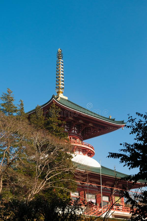 Daitouzaal van Narita San Shinsho ji tempel, Narita, Chiba, Japa stock afbeelding