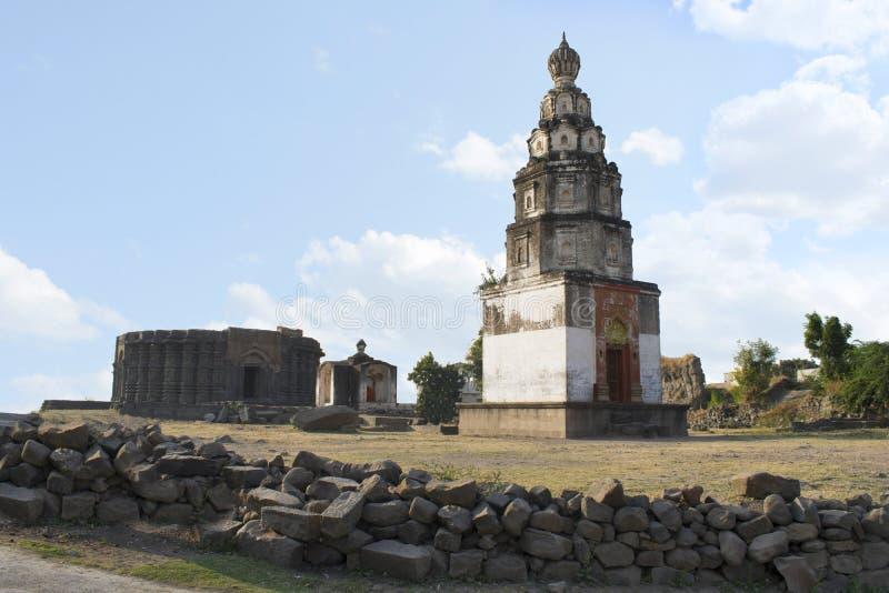 Daitya Sudan tempel, Lonar, Buldhana område, Maharashtra, Indien arkivbild