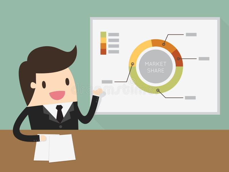 daj biznesmen, prezentacji royalty ilustracja