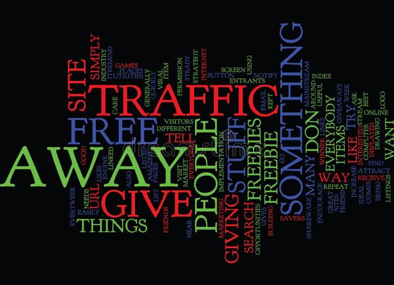 Daje Daleko od Swobodnie rzeczom Przyciągać ruchu drogowego słowa chmury pojęcie ilustracja wektor