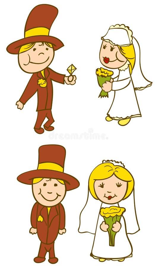 daje fornala pierścionkowi panna młoda diament royalty ilustracja