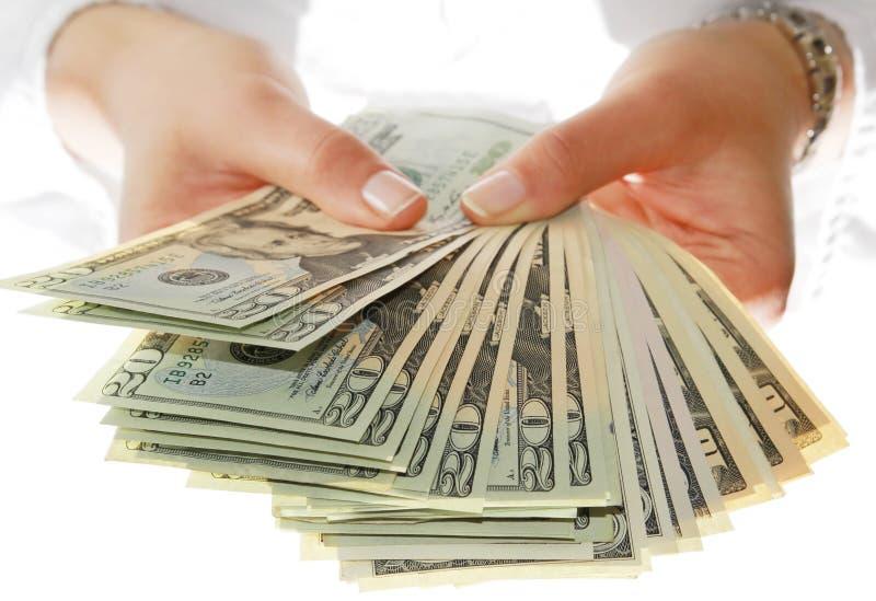 Daje Pieniądze Ja Zdjęcia Royalty Free